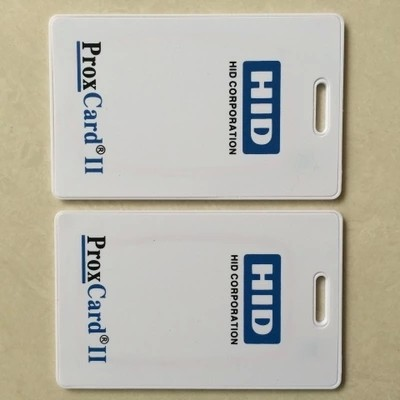 Free Shipping 125khz HID PROX II Clamshell Card Rewritable RFID Proximity H-ID Thick Pure White Card
