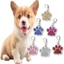 Персональная идентификационная карточка для домашних животных, ошейник для собак, кошек, идентификационные бирки в форме лапы, карта для домашних животных, ошейник для домашних животных, подвеска, защита от потери