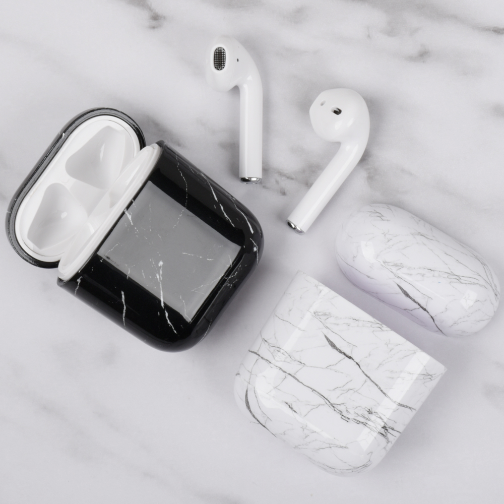 Cover For Apple airpods case 2/1 marble earphone accessories bluetooth headset PC airpod cover apple airpod case