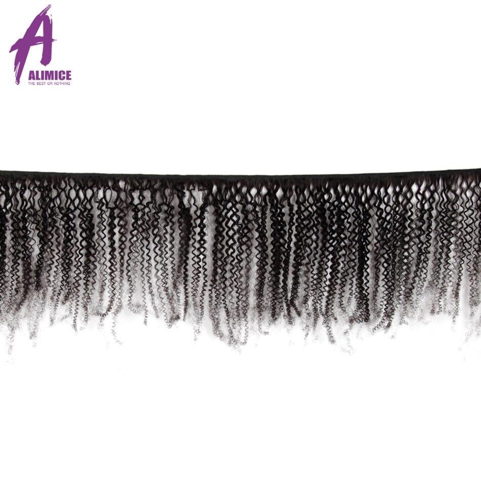 Paquetes de pelo brasileño de pelo rizado Afro paquetes de pelo humano 100% Real paquetes de 8 30 pulgadas 4 paquetes extensión de cabello Remy L - 2