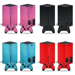 Image 1 - סיבי פחמן מדבקה מכירה לוהטת מדבקת עבור Xbox סדרת X קונסולת מדבקת עור עבור Xbox סדרת X בקר מדבקות