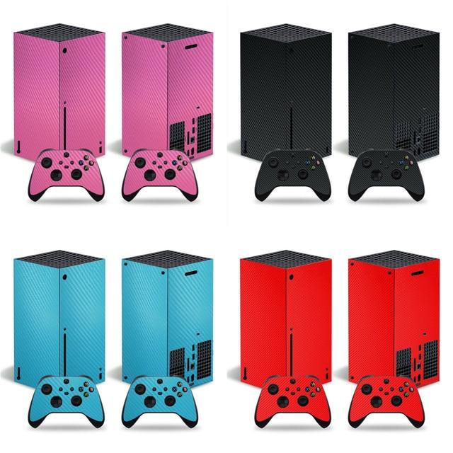 סיבי פחמן מדבקה מכירה לוהטת מדבקת עבור Xbox סדרת X קונסולת מדבקת עור עבור Xbox סדרת X בקר מדבקות