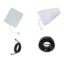 800 850 900 1800 1900 2100 2600 Antenna for Signal Booster Repeater 3G 4G CDMA GSM DCS +cable+indoor antenna +outdoor antenna(China)