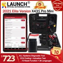 LAUNCH-escáner de diagnóstico X431 Pro Mini, dispositivo de análisis ECU completo con Bluetooth/Wifi, actualización gratuita de 2 años, X-431 Pros