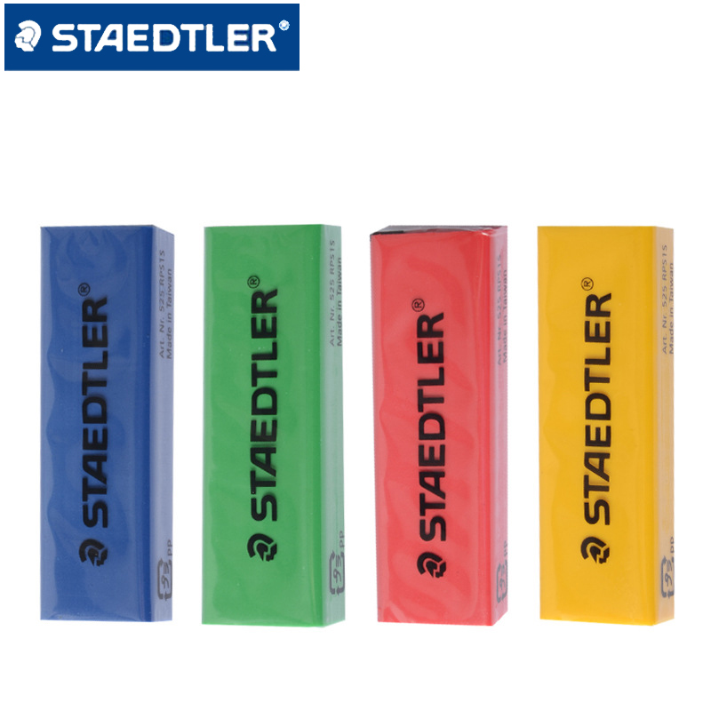 4pcs STAEDTLER Colored Pencil Eraser Refill For STAEDTLER 525 PS1 Mechanical Push-out Eraser Stationery School Office Supplies