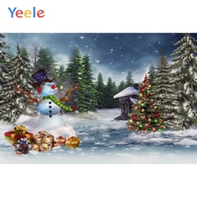 Yeele Christmas Photocall Pine Forest Snowman Gifts Photography Backdrops Personalized Photographic Backgrounds For Photo Studio