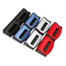 2 Stuks Universele Auto Veiligheidsgordels Clips Veiligheid Verstelbare Auto Stopper Gesp Plastic Clip 4 Kleuren Interieur Accessoires Auto  styling