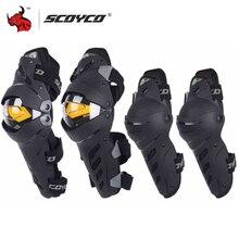 SCOYCO rodillera para Motocicleta para hombre, Protector deportivo para Motocross, equipo de protección