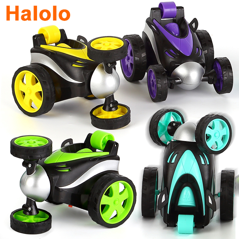 Halolo Rolling 360 Rotating Fast Mini RC <font><b>Car</b></font> Deformation Tumbling Model Rock <font><b>Electronic</b></font> Remote Control Drift stunt <font><b>Car</b></font> Toy <font><b>kids</b></font> image