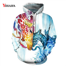 Men Women 3D Sweatshirt Colorful Deer Animal Print Hoodies Graphic Streetwear Pullover Tracksuit Casual Couple Clothes animal футболка animal graphic p05 12
