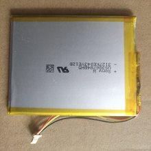 Sony-batería recargable para E-Book Onyx BOOX C67ML, paquete de reemplazo de 406788, 3,7 V, 3 líneas, enchufe