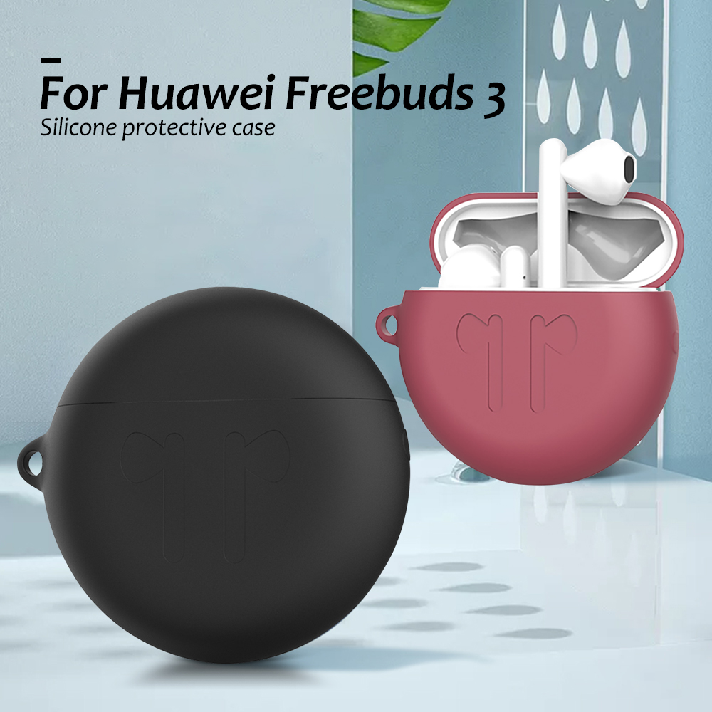 Soft Silicone Earphone Case Applicable For Huawei Freebuds 3 Wireless Headphone Anti-fall Shockproof Cases For FreeBuds3 Coque