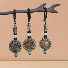 Тибетский брелок для ключей с подвеской Будды om ohm aum буддийский