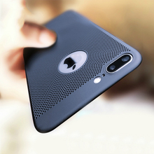 GerTong Heat Dissipation Phone Case For iPhone X 10 8 7 6 6s Plus 5 5s SE Cover Cool Matte Hard PC Cases XS MAX XR