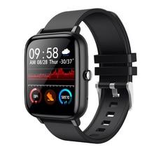 Reloj inteligente P6 para hombre y mujer, resistente al agua, 1,54 pulgadas, rastreador de Fitness, pantalla táctil con frecuencia cardíaca, Monitor para iOS y Android