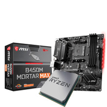 Socket Am4 B450m-Mortar Amd Ryzen 5 3600 CPU MSI Suit Cooler MAX Without