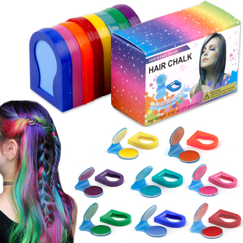 8 Colors Hair Chalks Powder DIY Temporary Women Hair Color Pastels Salon Styling Tool Portable Paint Beauty Dye Styling Accessor 1