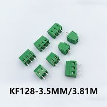 10pcs/Lot KF128 2P 3P 3.5MM 3.81MM Pitch PCB Screw Terminal Block Splice Terminal KF120 KF350 DG308 DG128 MG128