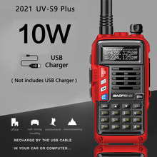 2021 baofeng UV-S9 mais 10w portátil walkie talkie 20km de longa distância ham rádio transceptor até baofeng uv-5r em dois sentidos rádio