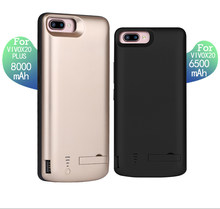 8000/6500mAh USB battery charger case For VIVO X20 External Power Bank Pack Phone Case For VIVO X20 Plus Power Case Stand cover(China)