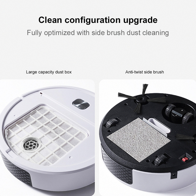 2021 Upgrade Smart Robot Vacuum Cleaner 1800Pa App Remote Control Vacuum Cleaner Home Multifunctional Wireless Sweeping Robot 3