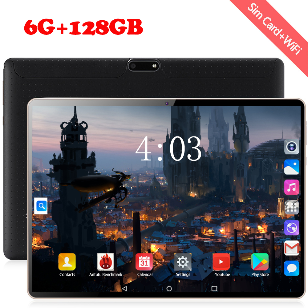 2020 New Design 10 Inch Tablets Android 8.0 OS 6GB + 128GB ROM Dual Camera 8MP SIM Tablet PC Wifi GPS 4G Lte Mobile Phone Pad