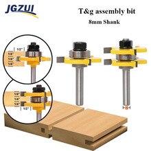 2Pcs 8Mm Shank Milling Cutter Router BitsชุดT Slotไม้ตัดไม้สำหรับงานไม้ตัดเครื่องกัดเครื่องมือตัดไม้