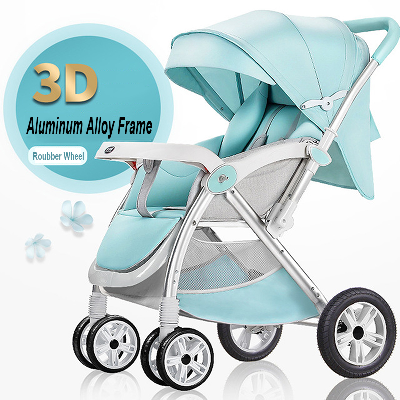 New Portable <font><b>Baby</b></font> Stroller High Landscape Foldable <font><b>Baby</b></font> Car High Security Multifuctional <font><b>3</b></font> <font><b>in</b></font> <font><b>1</b></font> <font><b>Baby</b></font> <font><b>Pram</b></font> Four Wheels Stroller image