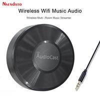 M5 AudioCast per Airplay Wireless Music Audio Speaker Receiver 2.4G WIFI Hifi Music per DLNA Airplay Adapter Spotify Streamer