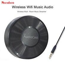M5 audiocast para airplay música sem fio receptor de áudio alto-falante 2.4g wi fi alta fidelidade música para dlna airplay adaptador spotify streamer