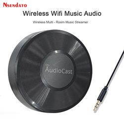 M5 AudioCast for Airplay Wireless Music Audio Speaker Receiver 2.4G WIFI Hifi Music for DLNA Airplay Adapter Spotify Streamer