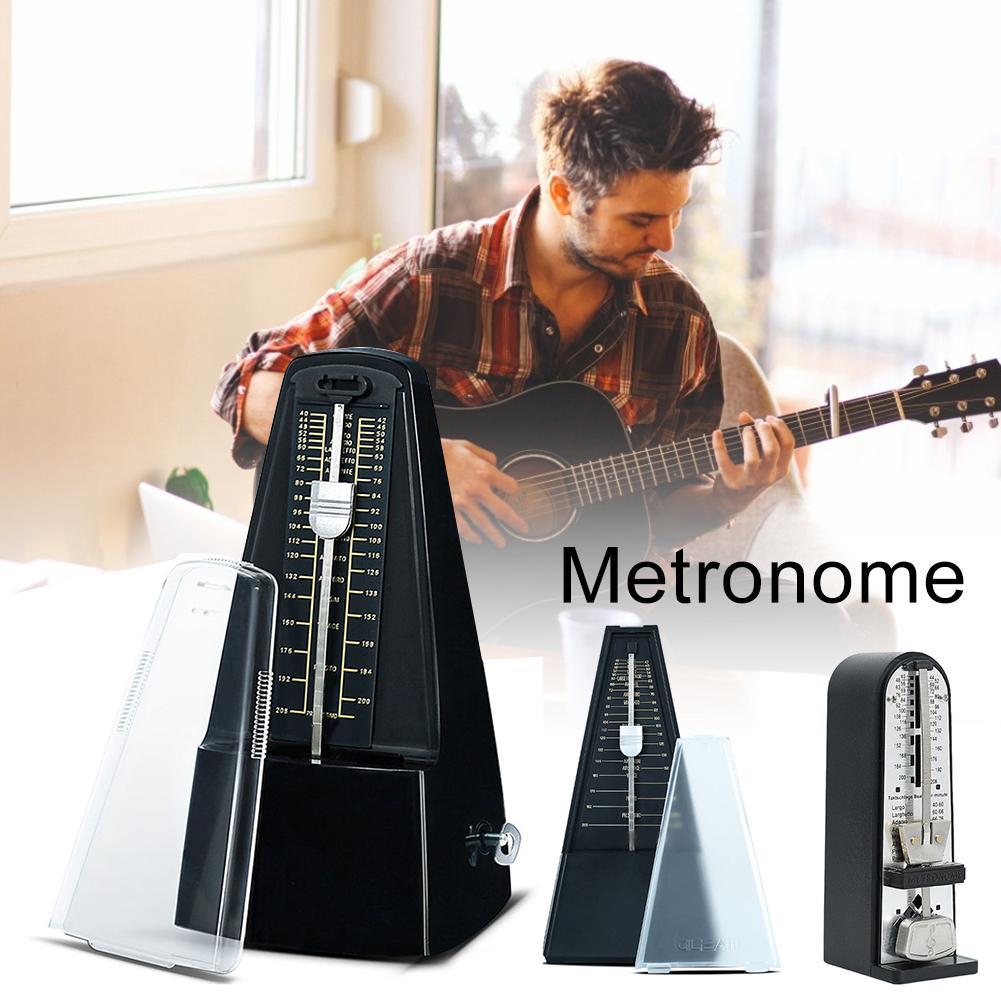 Metronome Guitar Ukulele Accessories Iron Mechanical Metronome For Piano Guitar Drum Bass Metronome Accurate Music Timing