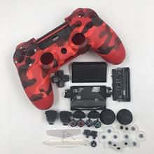 교체 주택 쉘 케이스 버튼 소니 플레이 스테이션 PS4 슬림 4 컨트롤러 예비 부품에 대한 DIY 모드 키트를 설정