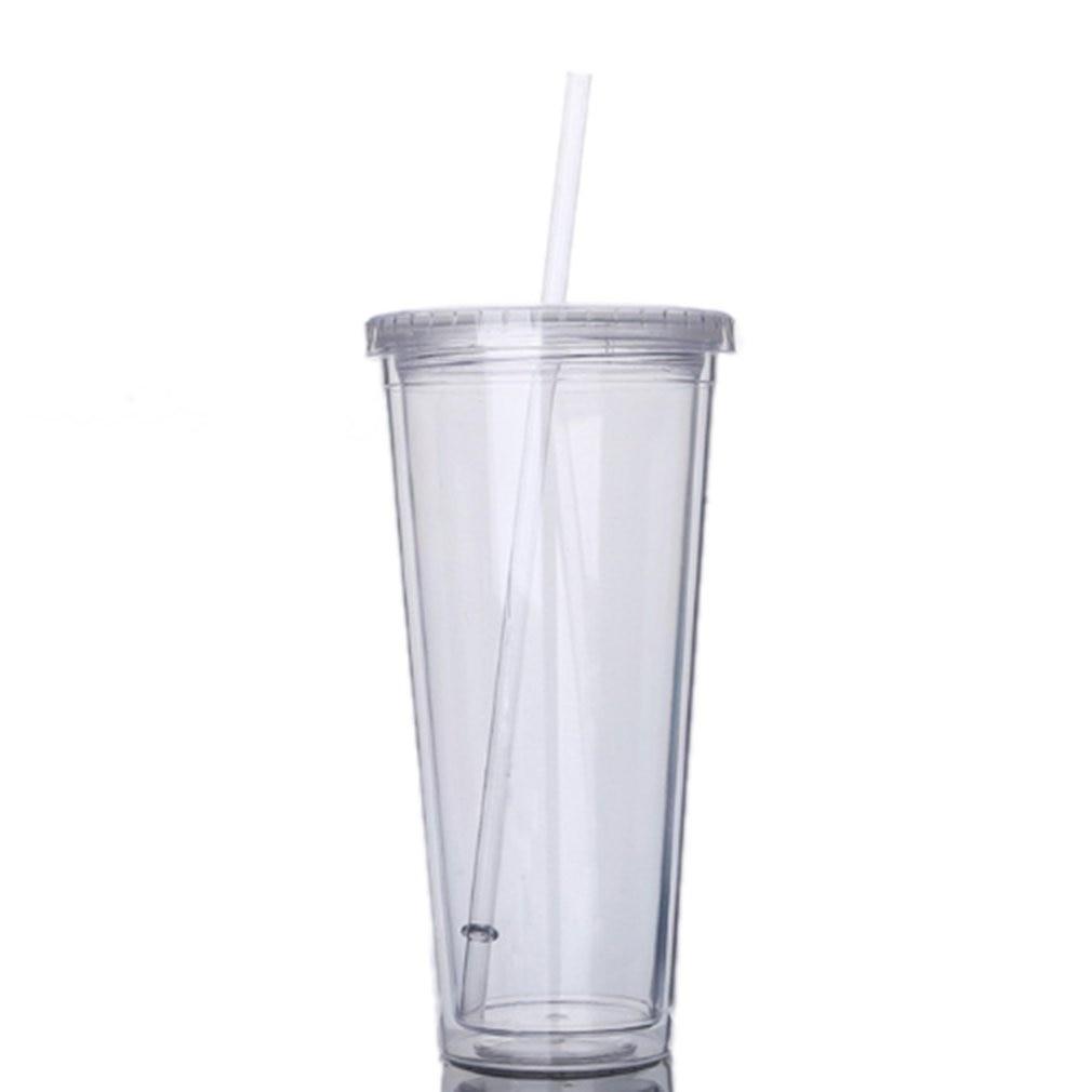 Ev Aletleri'ten Su Filtre Parçaları'de 650ML seyahat taşınabilir pipetli bardak spor plastik meyve suyu su şişesi mühürlü fincan çift katmanlı plastik title=