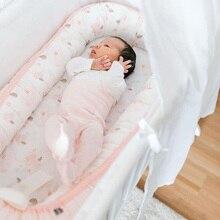 Переносная кроватка для новорожденных, съемная моющаяся дорожная кровать для детей, детская хлопковая Колыбель для мальчиков и девочек, детская люлька, бампер