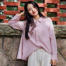 Autumn Clothing 2020 New Style Plaid Shirt Women Long Sleeve
