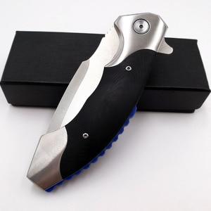 Image 5 - JSSQ טקטי מתקפל סכין 9Cr18Mov להב פלדה G10 ידית כדור נושאות הישרדות כיס סכינים חיצוני קמפינג Combat EDC כלים