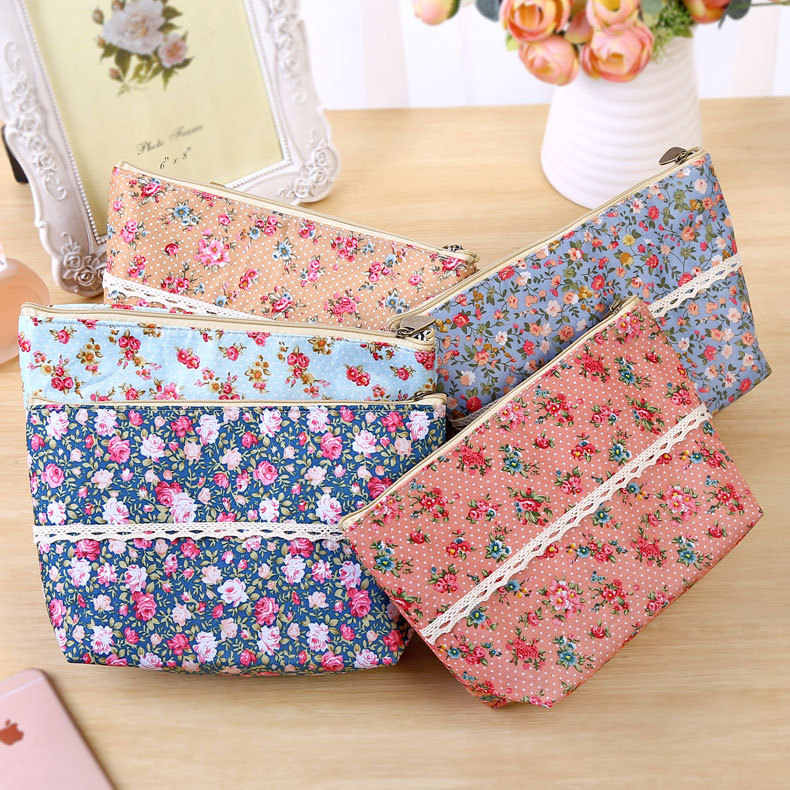 1pc Women Plaid Travel Cosmetic Bag Makeup Bag Handbag Female Zipper Purse Pouch Cosmetics Make Up Bags Travel Beauty Organizer