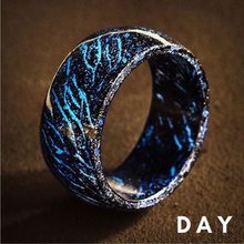New Design Luminous Purple Blue Resin Ring Glowing In The Dark Wedding Engagement Rings For Women Men Jewelry Gift