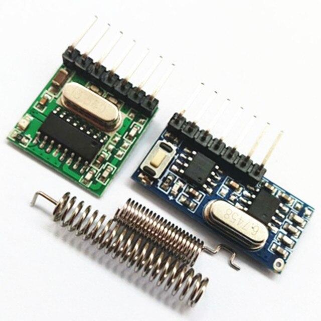 433MHz drahtlose empfänger und fernbedienung transmitter learning code 1527 decodierung modul 4 kanal ausgang mit lernen taste