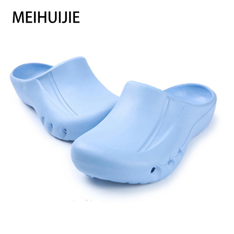 Womens Rubber Garden Nursing Uniform Comfort Shoes Blue Work Safety Clog