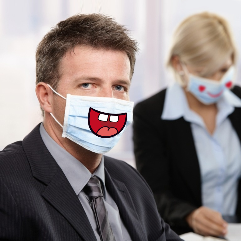 10x8pcs Funny Smile Mouth Stickers DIY Mask Stickers Actively Mouth Stickers Smile Lip Stickers