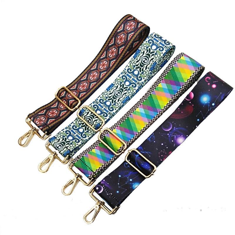 Rainbow Adjustable Bag Strap Women Handbag Belt 5cm Wide Shoulder Bag Strap Replacement Strap Bag Parts Accessories Belt for Bag