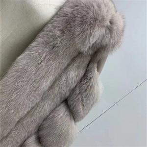 Image 5 - New Real Fox Fur Coats Women Genuine Fox Fur Thick Warm Long Jacket Fashion Winter Ladies Real Fur Overcoat Luxury