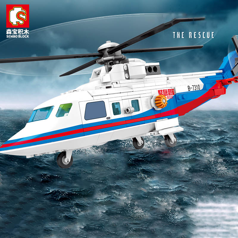 senbao bloco blocos de construcao para guerra militar serie helicoptero resgate tecnica diy brinquedo para meninos