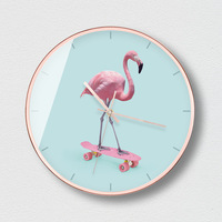 Wall Clock Modern Design Girls Pink Living Room Modern Simple Mute Quartz Clock Creative Watch Bedroom Clock Round Clock 50A042