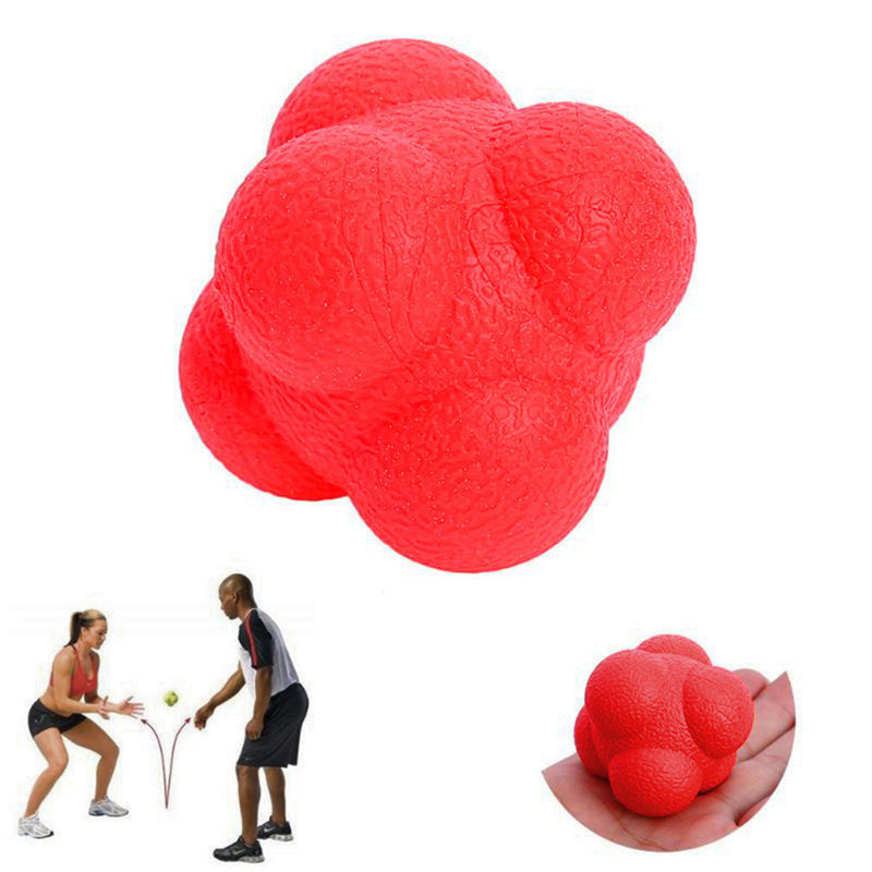 Hexagonal Reaction Ball Silicone Agility Coordination Reflex Exercise Sports Fitness Training Ball