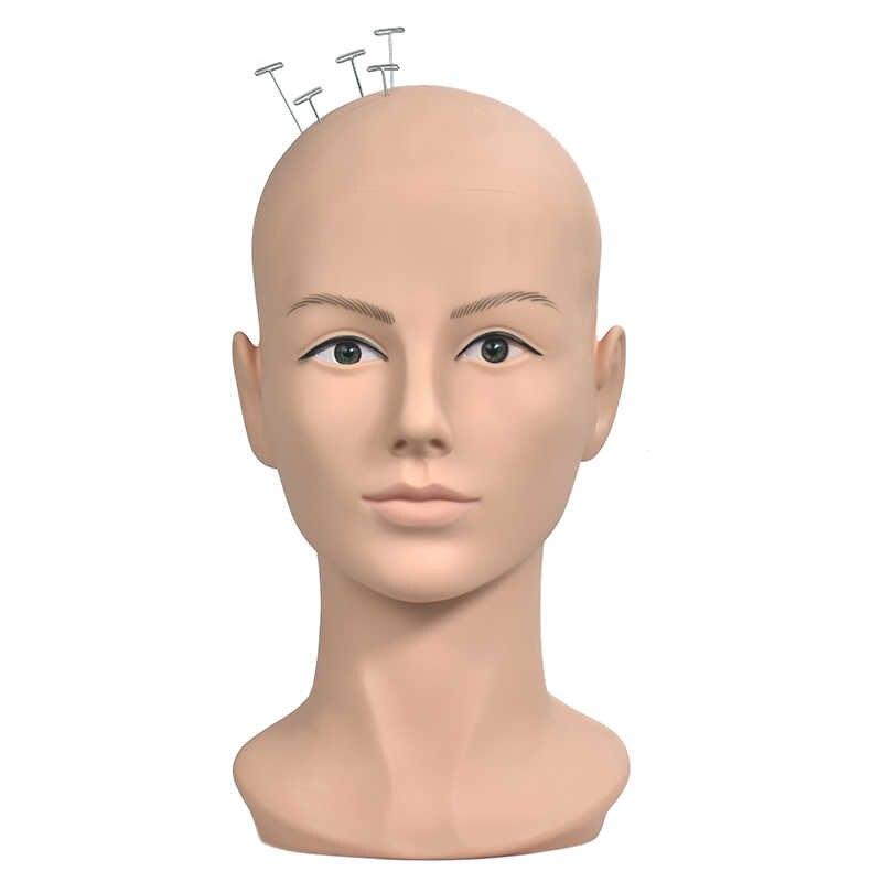 Kaal Mannequin Hoofd Pruik Stand Mannequin Hoofd Voor Caps Pruiken Wimpers Sieraden Masker Massage Voor Koop Training Hoofd