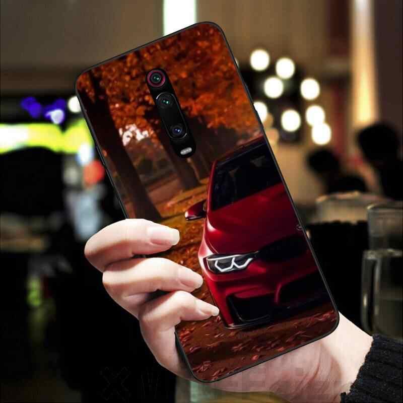 LJHYDFCNB niebieski czerwony samochód dla Bmw DIY etui na telefon z nadrukiem obudowa dla Redmi K20 Note4 4X 5 5A 6 6PRO 7 8 8PRO pokrywa