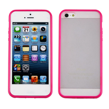 цена на Silicone Frame TPU Bumper Matte Clear Hard Back Case Cover For Apple5 iPhone5